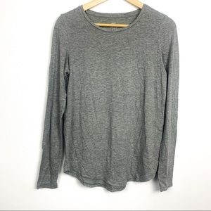 Aerie real soft long sleeve tee size S grey